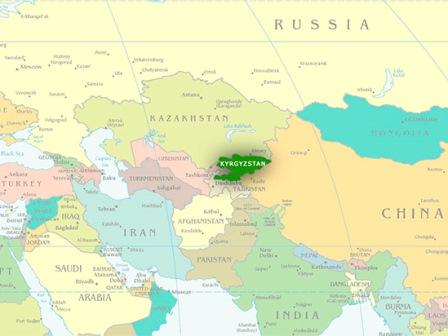 Mappa Kirghizistan