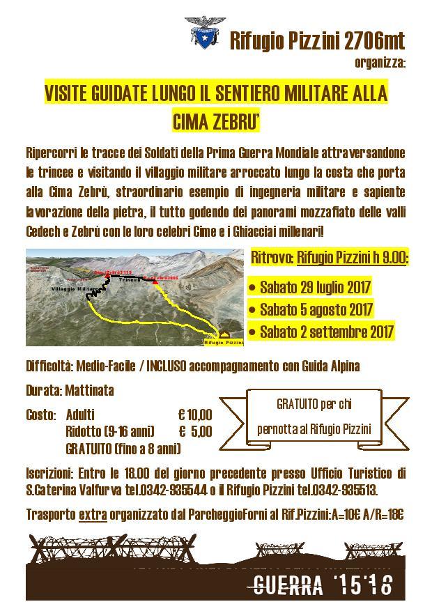Visite sentiero militare Zebru