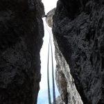 Discesa in corda doppia in grignetta