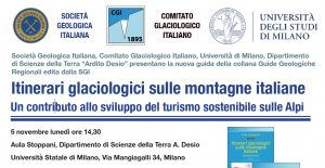 itinerari glaciologici 5 novembre 2018 - Dipartimento di Scienze della Terra - Università di Milano