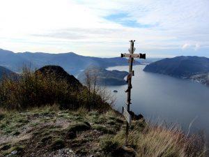 Dal Monte Vignole vista del Lago d'Iseo